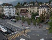 Für den Pilatusplatz soll es keine Zwischennutzung geben, so der Stadtrat. (Bild: Roger Grütter (Luzern, 18. September 2015))