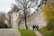 Die Museggmauer in der Stadt Luzern. (Bild: Philipp Schmidli)