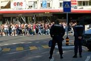 Der Bundesplatz in Luzern ist einer der Hotspots, wo während Fanmärschen eine fixe Kamera zum Einsatz kommen soll. (Archivbild Philipp Schmidli)