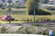 Ein Helikopter musste am Mittwochabend den Verletzten ins Spital fliegen. (Bild: Leserbild / PD)