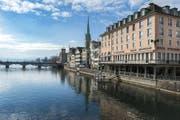 Das Hotel 'Storchen' an der Limmat in Zürich. (Bild: pd)