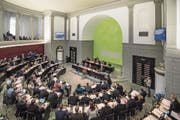 Blick in den Kantonsrat: Die Fraktionen werden demnächst über die Sparpläne der Regierung informiert. (Bild: Pius Amrein (Luzern, 12. Dezember 2016))