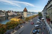 So sieht die Bahnhofstrasse in der Stadt Luzern derzeit aus. (Bild: Dominik Wunderli / Neue LZ)