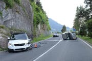 Beide Autos erlitten beim Unfall Totalschaden. (Bild: Luzerner Polizei)