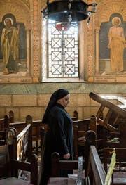 Eine Nonne in der koptischen Kirche in Kairo, auf die im Dezember ein Anschlag verübt worden ist. (Bild: David Degner/Getty (11. Dezember 2016))