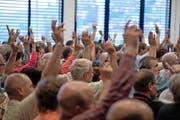 Hier lebt die Gemeindeversammlung weiter: In Udligenswil haben sich die Stimmbürger jüngst gegen die Abschaffung ausgesprochen. (Bild: Dominik Wunderli)