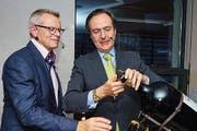 Hotelier und Botschafter beim Eröffnungsakt (Bild: Heinz Steimann)