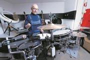 Ein Paradies für Perkussionsfans: die Werkstatt ... (Bild: Werner Schelbert (Cham, 17. Februar 2017))