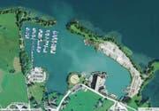 Luftbild der Kiesanlagen in Nuolen. (Bild mapsearch.ch)