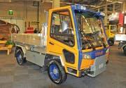 Die Gemeinde Alpnach kann sich nach dem Ja vom Sonntag nun ein solches Fahrzeug des Typs Meili VM7000 anschaffen. (Bild: PD)