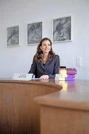 Andrea Blum am Bezirksgericht in Kriens. Im September wird sie als Ersatzrichterin für das Bundesstrafgericht in Bellinzona vereidigt. (Bild Pius Amrein)