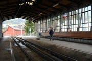 Gilt als Pionierleistung: Der Hochperron der Rigi-Bahn in Goldau. (Bild Bert Schnüriger/Neue SZ)