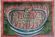 «Phönix aus der Asche» (Buchmalerei, 13. Jahrhundert). (Bild: PD)