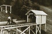 Das Bild wurde während des 2. Weltkrieges oberhalb der Liegenschaft Vogelsang in Littau aufgenommen. (Bild: PD)