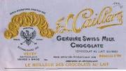 Ab Juli gibt es Cailler-Schokolade in einer neuen Verpackung (unten). Oben: das Original von 1920. (Bild: Archives Historiques Nestlé, Vevey/PD)