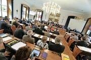 Ein Blick in die Juni-Session des Urner Landrats. (Bild: Florian Arnold / Neue UZ)
