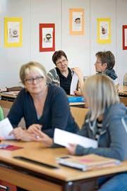 Für solche Veranstaltungen hat der Kanton die Gelder gestrichen. Im Bild: ein Englischkurs, gestern an der Volkshochschule Dagmersellen. (Bild Pius Amrein)