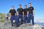 Sybille Haverkamp, Daniel Gnos, Werner Gnos und Silvio Steiner stehen neu für die Kantonspolizei Uri im Einsatz. (Bild: Kantonspolizei Uri)
