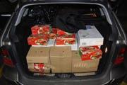 320 Kilogramm Fleisch waren für einen Laden in der Innerschweiz bestimmt. (Bild Zollfahndung und Grenzwache Basel)
