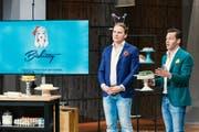 Flavio Cuoni (links) und Geschäftspartner Othmar Müller scheiterten mit ihrem Online-Torten-Versand in der Vox-Sendung «Die Höhle des Löwen». (Bild: Bernd-Michael Maurer / Vox)