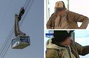 Der Bankräuber von Weggis, hier auf Bildern der Überwachungskamera, war gemäss der Luzerner Staatsanwaltschaft ein Serientäter. (Bilder Pius Amrein / Luzerner Polizei)