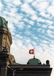 Die Westansicht der Bundeshauskuppel in Bern. (Bild: Martin Ruetschi / Keystone)