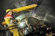 Arbeiten im Gotthard-Basistunnel. (Symbolbild Urs Hanhart/Neue UZ)