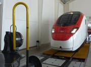 Zugsimulator «Giruno» in der Schienenhalle des Verkehrshauses. (Bild: PD)