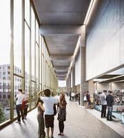 So soll die Pilatus Arena im Innern aussehen. (Bild: Visualisierung: PD)
