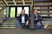 Die Brüder Stefan (links) und Adrian Leumann bestimmen die Geschicke der Innovationsfabrik LAS. (Bild Nadia Schärli)