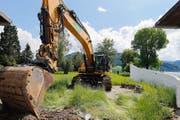 Die Bauarbeiten zum Ägeribad wurden gestern offiziell aufgenommen. (Bild Stefan Kaiser)
