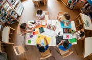 Blick in den Kindergarten Maihofhalde. (Bild: Roger Grütter / Neue LZ)