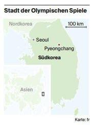 Karte Südkorea. (Bild: Karte: fr)