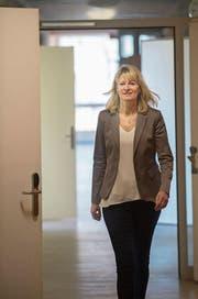 Silvia Bolliger, Leiterin der Dienststelle Asyl- und Flüchtlingswesen, im Asylzentrum Hirschpark in Luzern. (Bild: Boris Bürgisser (27. März 2017))