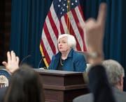 Fed-Chefin Janet Yellen bei der gestrigen Pressekonferenz.Bild: Shawn Thew/EPA (Washington, 15. März 2017) (Bild: Shawn Thew/EPA (Washington, 15. März 2017))