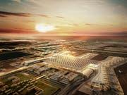 Nach der Fertigstellung wird der neue Flughafen in Istanbul von mehr als 150 Airlines genutzt, die wiederum über 350 Destinationen anfliegen. Es wird ein jährliches Passagieraufkommen von rund 200 Millionen erwartet. (Bild Schindler)