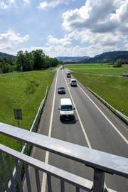 Eine doppelte Sicherheitslinie soll weitere Unfälle auf der Schnellstrasse zwischen Littau und Wolhusen verhindern. (Bild Dominik Wunderli)