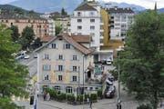 Das Wirtshaus zur Schmiede am Luzerner Pilatusplatz. (Bild Edi Wismer/Neue LZ)