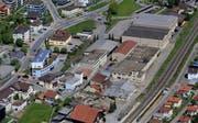 Das Glasi-Areal in Wauwil aus der Luft. (Bild: PD/Gemeinde Wauwil)