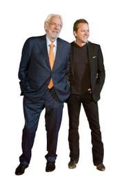Donald Sutherland (80) und Kiefer Sutherland (48) vor wenigen Tagen in Toronto. (Bild: Key)