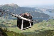 Ein beliebter Ausflug für Touristen: Die Cabriobahn auf das Stanserhorn. (Bild: Manuela Jans / Neue LZ)