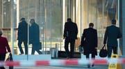 Die Schweizer Wirtschaftselite trifft sich im Rahmen der Rive-Reine-Konferenz bei Nestlé. (Bild: Laurent Gilliéron/Keystone (Vevey, 16. Januar 2011))