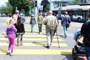 In der Innenstadt sind Ampeln zu kurz grün – zu diesem Schluss kommt ein Test des Kinderparlaments. (Bild: PD)