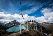 Der Windpark Gries. (Bild: Olivier Maire/Photo-GenicOLIVIER MAIRE (PHOTO-GENIC.CH))