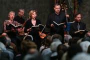 Das Ensemble Corund am Karfreitagskonzert in der Kirche Maihof in Luzern. (Archivbild) (Bild: Philipp Schmidli/LZ (Luzern, 14. April 2017))