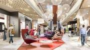 Lounge in der Mall of Switzerland. (Bild: Visualisierung: PD)
