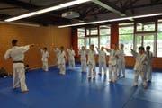 Kampfsportler üben einen Bewegungsablauf. (Bild: PD/Bildungs- und Kulturdirektion Uri)