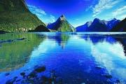 Traumhafte Fjordlandschaft: Der 15 Kilometer lange Milford Sound ist eine der Naturattraktionen Neuseelands. (Bild: PD)