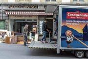 Der Einzug von Casagrande bei Schmid-Linder hat bereits begonnen. Bild: Nadia Schärli (Luzern, 13. März 2017)