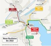 Bis 2022 sind zahlreiche neue Linien geplant. (Bild: Grafik: Oliver Marx)